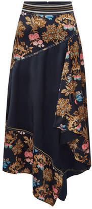Peter Pilotto Asymmetric Silk Skirt