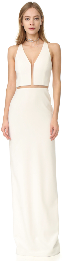 Alexander WangAlexander Wang V Neck Gown with Fishing Line Detail
