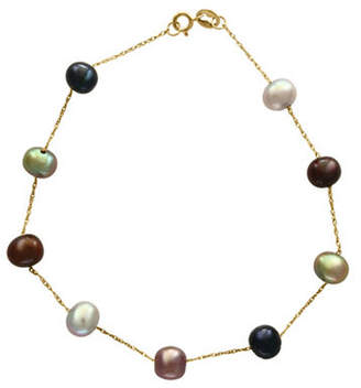 Effy 14K Yellow Gold and 5.5mm Dyed Freshwater Pearl Station Bracelet