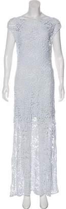 Miguelina Crochet Maxi Dress