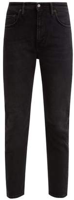 Acne Studios Melk Distressed Cropped Jeans - Womens - Dark Grey