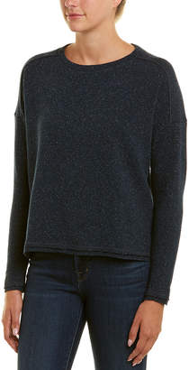 Three Dots Donegal Wool & Silk-Blend Sweater