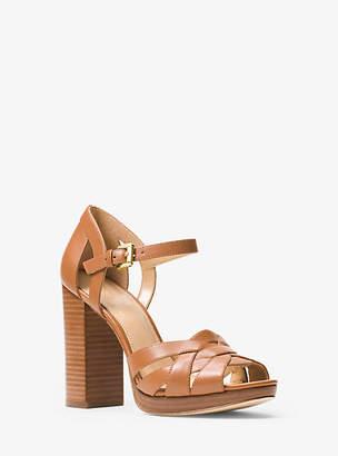 Michael Kors Annaliese Leather Platform Sandal