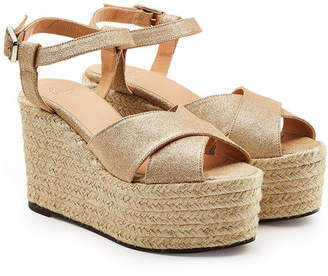 Castaner Espino Wedge Sandals with Metallic Leather