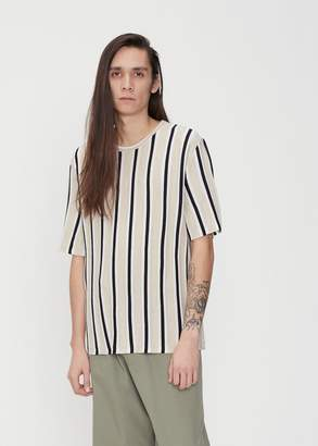Maison Margiela Short Sleeve Stripe Crewneck Knit