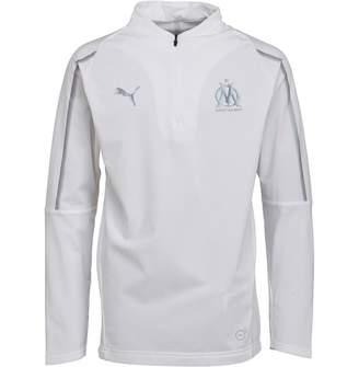 Puma Junior Olympique Marseille 1/4 Zip Training Top White