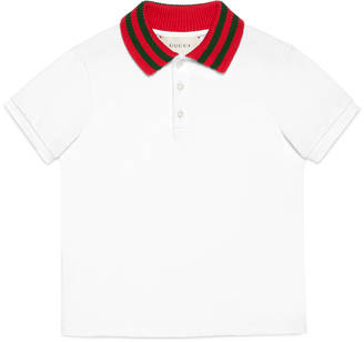Children's cotton polo with Web $175 thestylecure.com