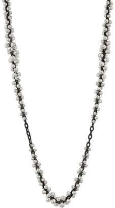 Ten Thousand Things Silver Beaded Cluster Chain Necklace