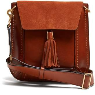 Isabel Marant Sykan Leather And Suede Bag - Womens - Tan