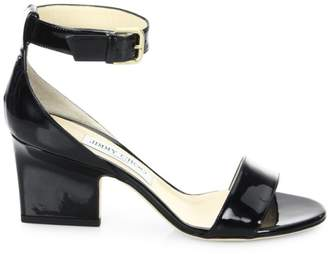 a0e53b1bba6 at Saks Fifth Avenue · Jimmy Choo Edina Patent Leather Ankle-Strap Sandals