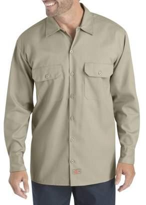 Dickies Big Men's Long Sleeve Flex Twill Shirt