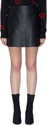 Sonia Rykiel Snap button outseam lambskin leather skirt