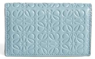 Loewe Debossed Calfskin Leather Business Card Holder