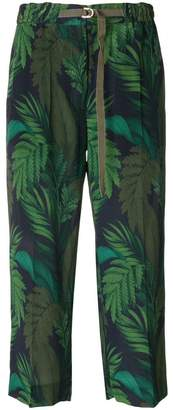 Moncler Fougeres print cropped trousers