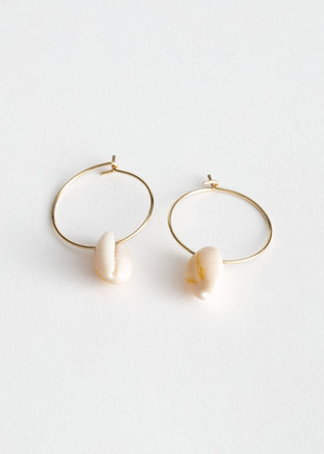And other stories Puka Shell Hoop Earrings