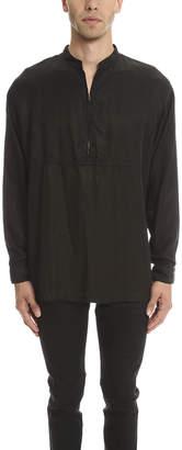 Robert Geller Cupro Zipper Shirt