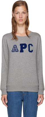 A.P.C. Grey Collegienne Sweatshirt $165 thestylecure.com