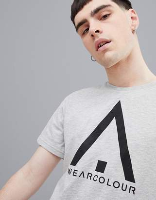 Wear Colour Wear Color Wear Logo Tee in Gray Melange
