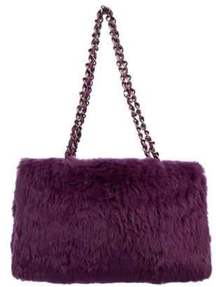 Chanel Fur Chain Shoulder Bag purple Fur Chain Shoulder Bag