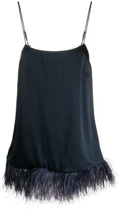 Semi-Couture Semicouture feather trimmed cami top