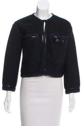 Chanel Bow-Accented Bouclé Cardigan