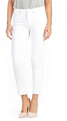 Women's Paige Miki Ankle Straight Leg Jeans $199 thestylecure.com
