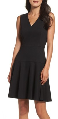 Women's Eliza J Ponte Fit & Flare Dress $138 thestylecure.com