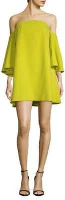 Milly Off-Shoulder Statement Sleeve Dress