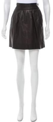 Alberta Ferretti Leather Mini Skirt