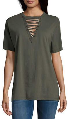 Freeze Short Sleeve V Neck T-Shirt-Womens Juniors