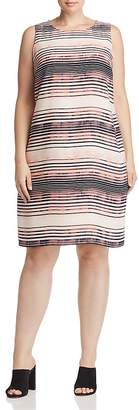 Vince Camuto Plus Ancient Muses Striped Shift Dress