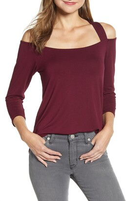 Loveappella Cold Shoulder High/Low Top