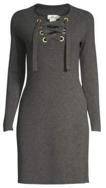 Vineyard Vines Lace-Up Merino Wool Sweater Sheath Dress