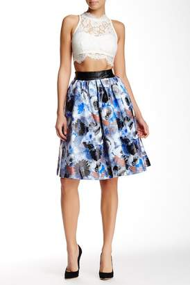 TOV Watercolor Floral Skirt $164 thestylecure.com
