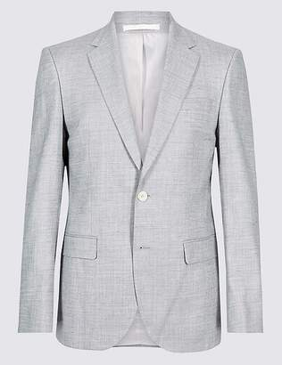Marks and Spencer Linen Miracle Regular Fit Textured Jacket