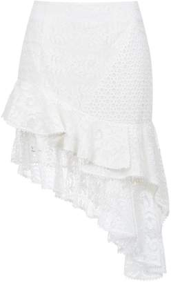 Martha Medeiros lace asymmetric skirt