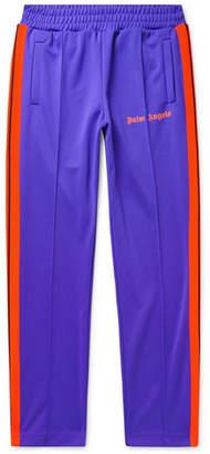 Palm Angels Slim-Fit Logo-Print Striped Tech-Jersey Sweatpants