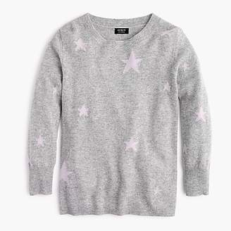 J.Crew Everyday cashmere sweater in kaleidoscope star print