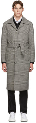 eidos Black and White Glen Plaid Top Coat