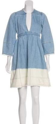 Ulla Johnson Denim Dip-Dye Dress