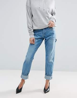 Asos Brady Boyfriend Jeans With Carpenter Styling