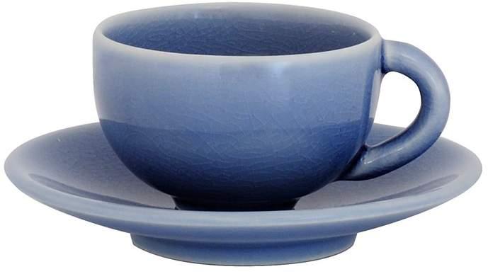 Jars Tourron Blue Chardon Teacup & Saucer