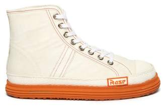 Martine Rose Basketball High Top Canvas And Rubber Trainers - Womens - White