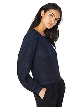 Milly Women's Knit Shimmer Metallic Long Sleeve Dolman Pullover