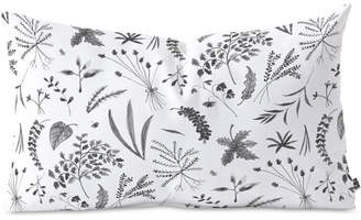 Deny Designs Kerrie Satava Wild Prarie Gray Oblong Throw Pillow