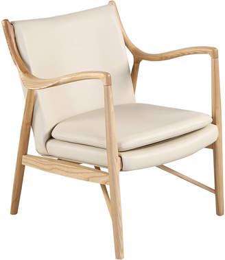 808 Home Copenhagen 45 Leather Mid-Century Modern Armchair