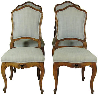 One Kings Lane Vintage 18th-C. Italian Side Chairs - Set of 4 - The Barn at 17 Antiques