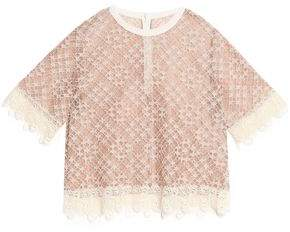 Sandro Hana Cotton-Blend Corded Lace Top