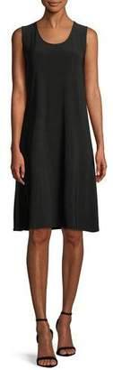Caroline Rose Scoop-Neck Stretch Knit Dress, Petite