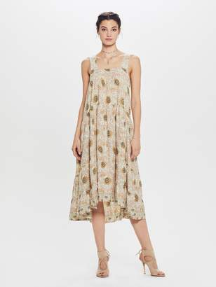 Natalie Martin Jasmine Rayon Dress - Vintage Flowers Sand